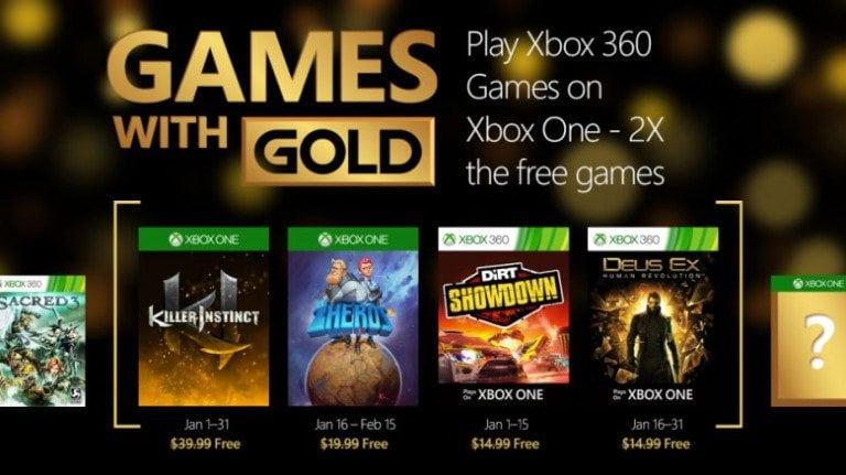 Games With Gold: Revelados os Games de Janeiro