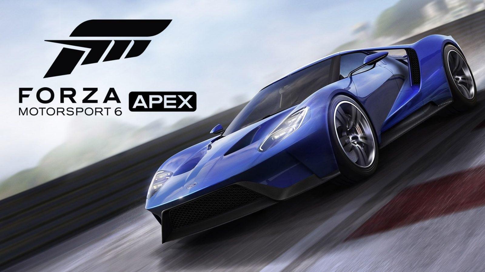 Forza 6 Apex não terá crossplay com Xbox One