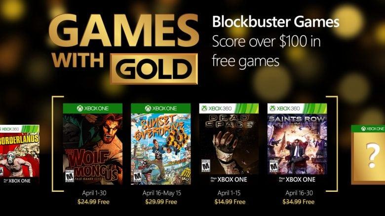 Games With Gold: Revelados os Games de Abril