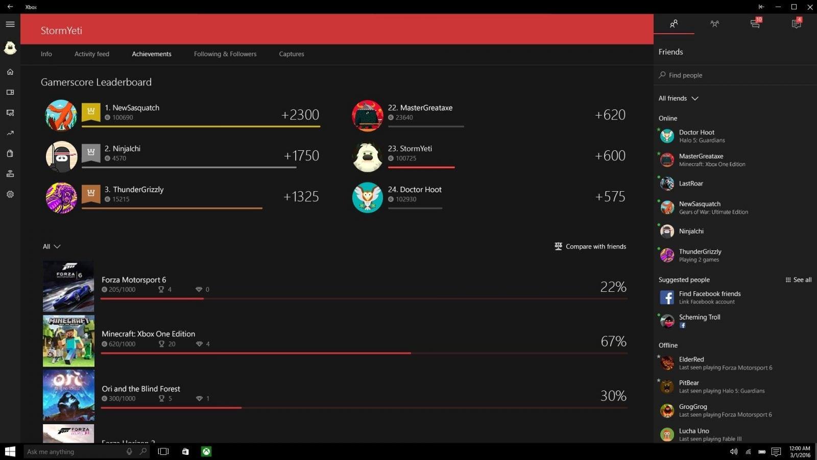 Preview: Atualização de Março para Xbox One