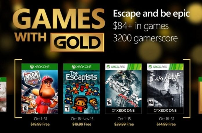 games with gold outubro 2016