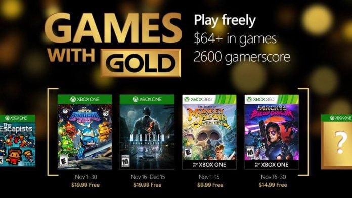 games with gold novembro 2016