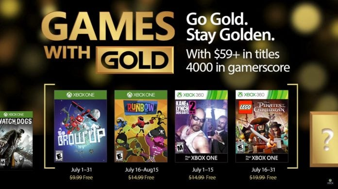 games with gold julho 2017
