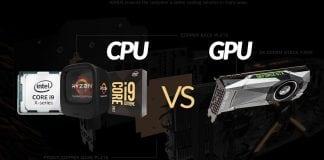 diferença entre CPU e GPU