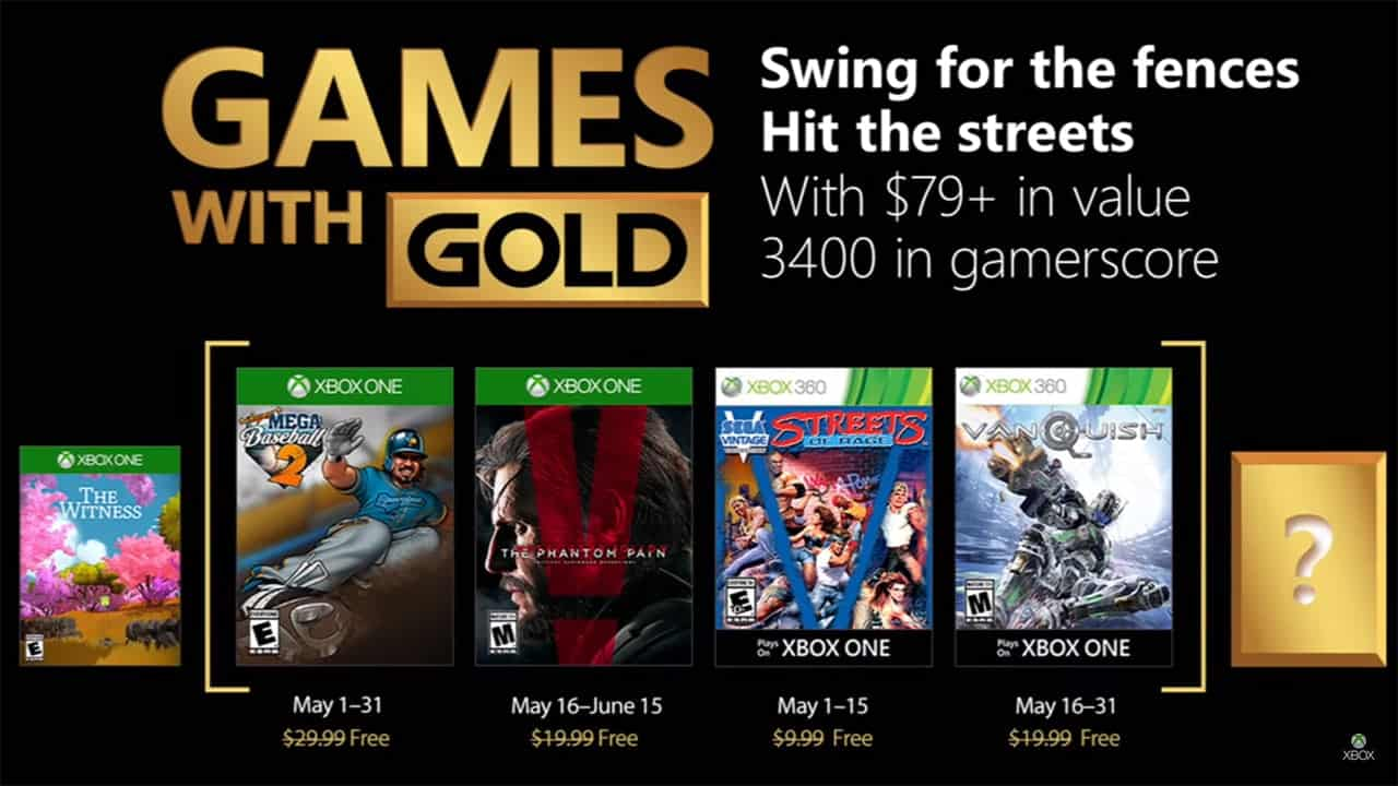 games with gold Maio 2018