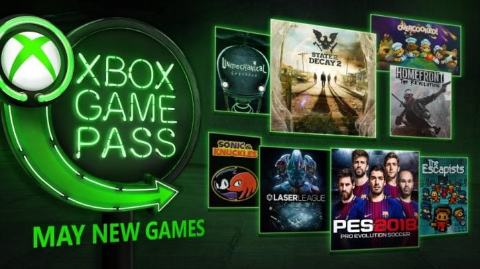 Xbox Game Pass Maio