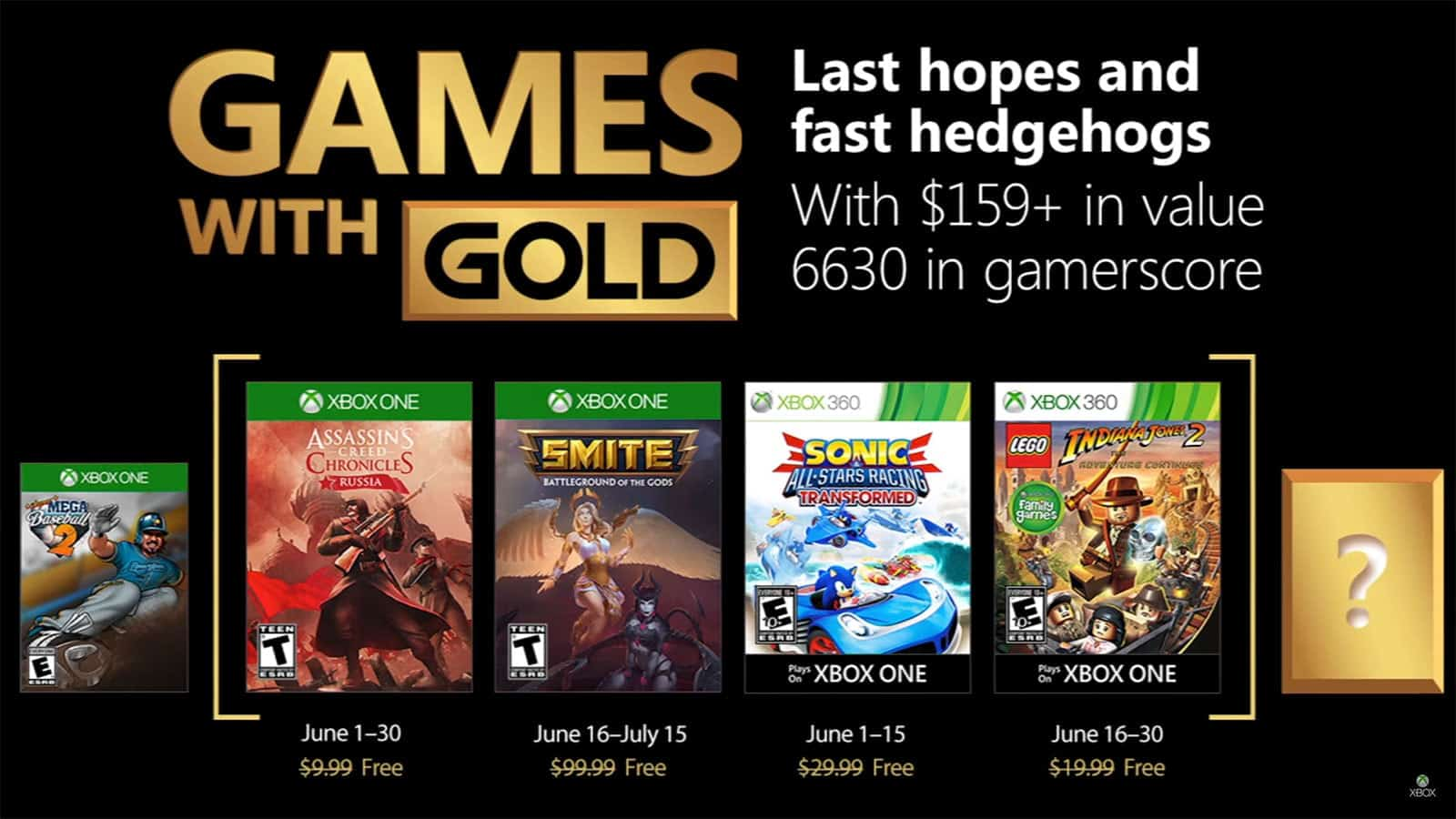 games with gold Junho 2018
