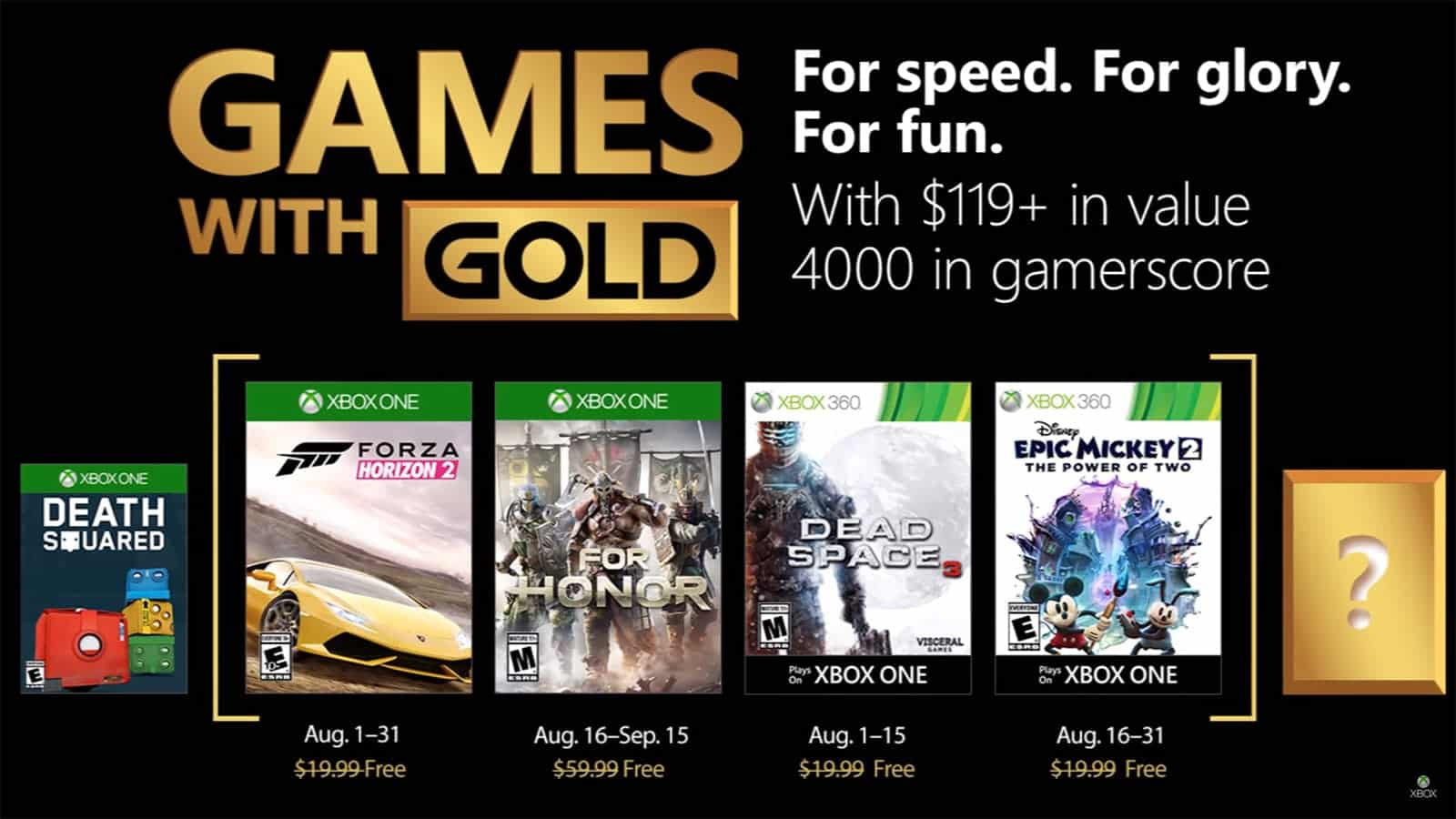 games with gold agosto 2018
