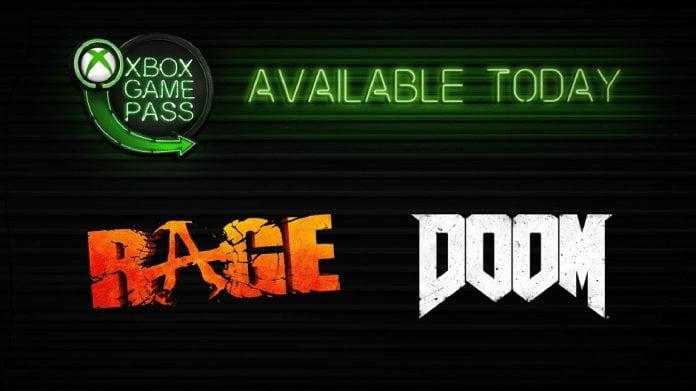Xbox Game Pass Doom e Rage