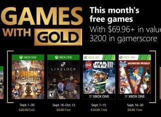 games with gold setembro 2018