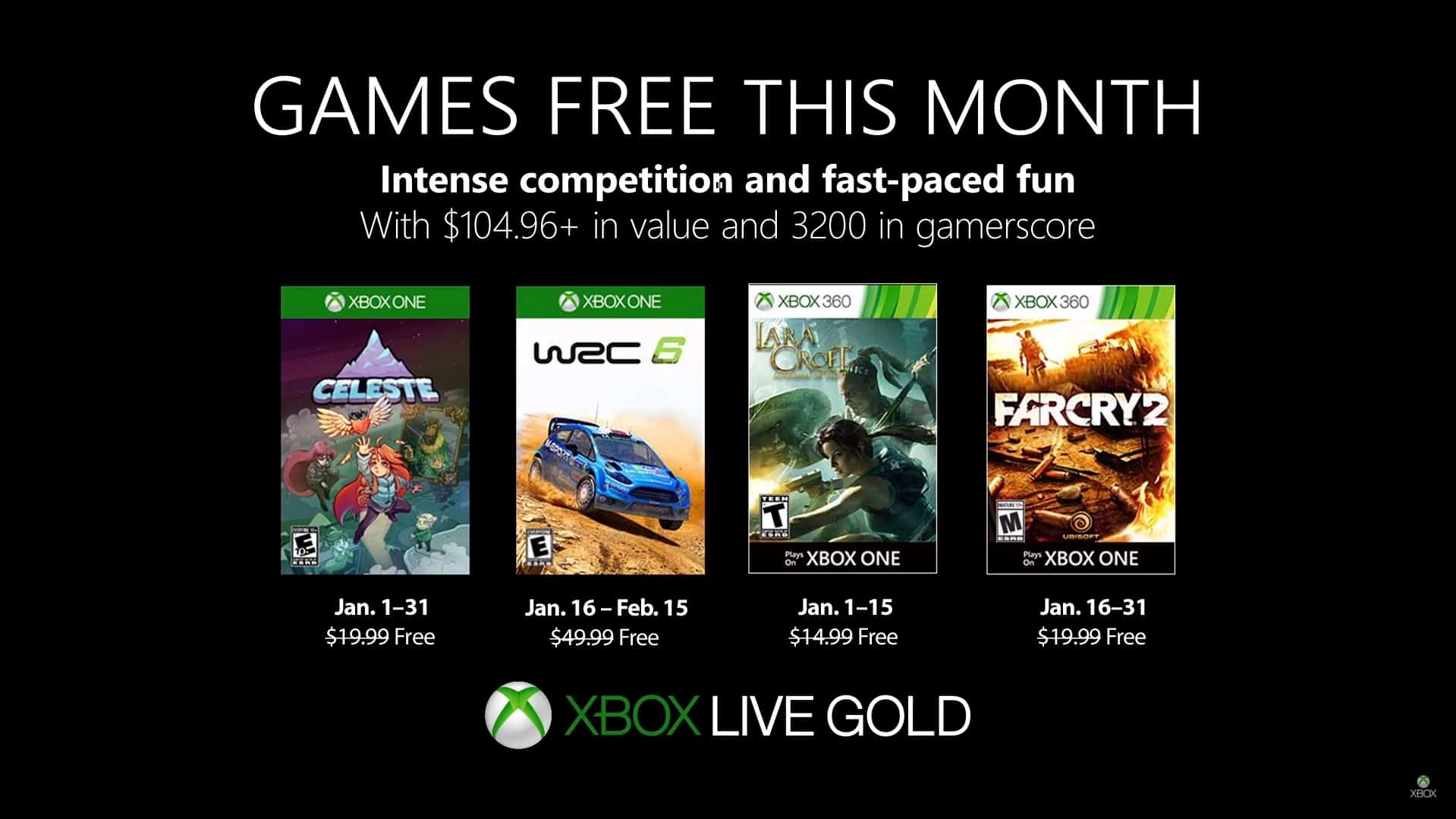 Games With Gold Janeiro 2019