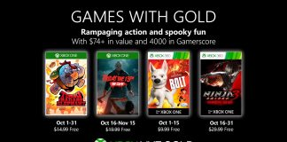 games with gold outubro
