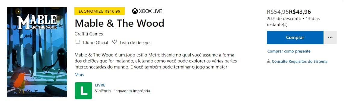 mable e the wood xbox one