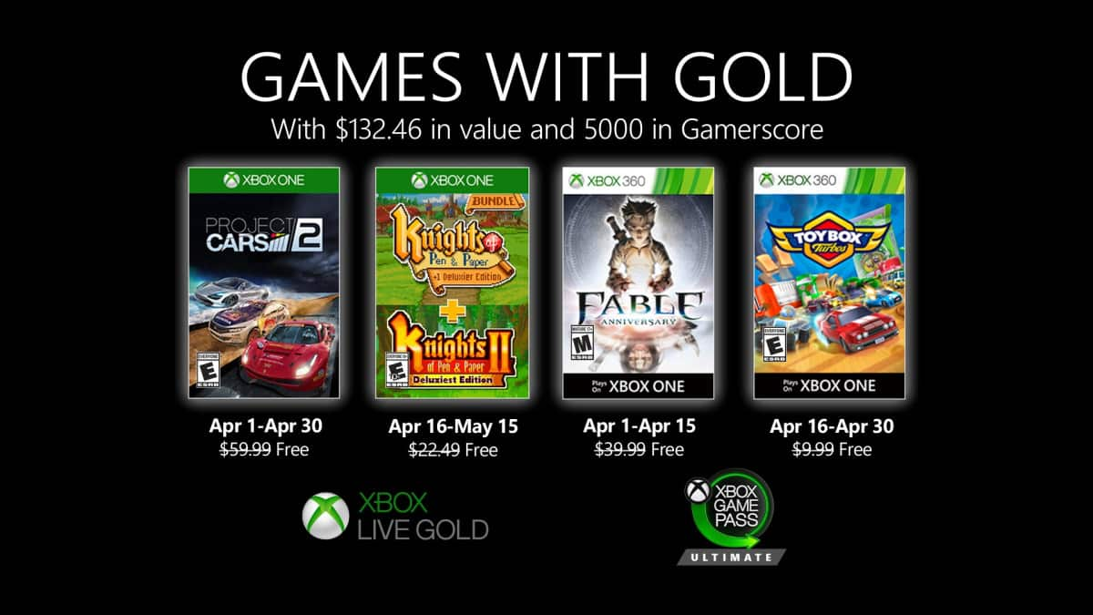 games with gold abril