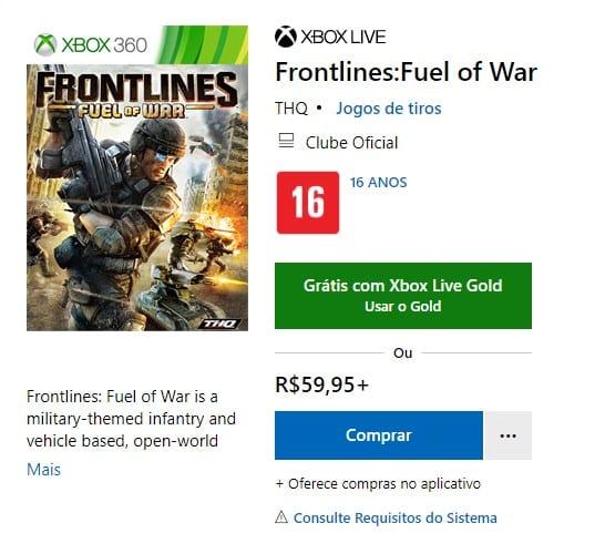 frontlines fuel of war xbox